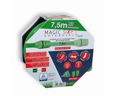 Magic Soft 7,5 mt-tubo extensible jardín a hasta 3 veces su longitud inicial Tubo Elástico para jardín ligero extensible flexible sin nudos y enredos Tubo riego