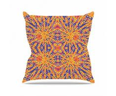 KESS InHouse mm4115aop03 18 x 45,7 Miranda Mol azulejo Color Naranja Cojín Manta de Exterior, Multicolor
