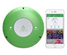 GreenIQ Smartgarden Hub Programador de Riego para Jardín, Verde, 15 x 15 x 5.3 cm
