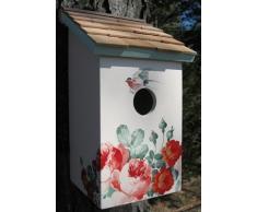 Garden Bazaar HB-9075PACS - Salero, diseño de casa de pájaros, Color Blanco