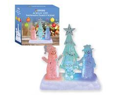 The Christmas Workshop - Árbol de Navidad con Luces LED Que cambian de Color, Funciona con Pilas, acrílico, Transparente