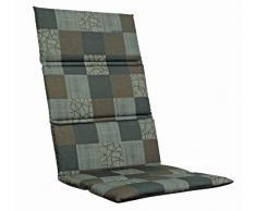 Kettler 0309005-8713 - Cojín para silla de jardín (aluminio y textil, 110 x 50 x 3 cm), diseño de cuadros, color marrón
