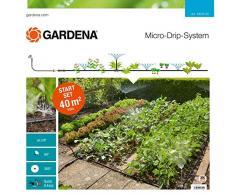 Gardena 13015-20 Set de Inicio (Sistema jardín Micro-Drip para el riego Flexible e Individual de los parterres de Flores y los bancales hortalizas)