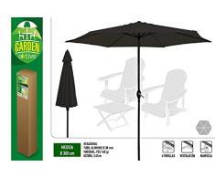 Aktive Garden Parasol Hexagonal con Mástil de Aluminio 38 mm, Antracita, Diámetro 300 cm