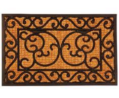 Esschert Design, Felpudo de goma/Cocos S, RB21, caucho y del tejido de fibra de coco, 60 x 40 x 1-