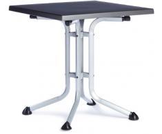 Kettler 03125-815 - Mesa plegable (70 x 70 x 72 cm), color plateado y gris