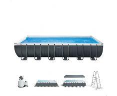 Intex 26364NP - Piscina elevada rectangular Ultra XTR Frame 732 x 366 x 132 cm con depuradora