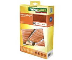 Windhager Toldo Vela de protección Solar tecnología de tensado de Cables 270 x 140 cm, Ideal para pérgola o Invernadero, Terracota, 10877