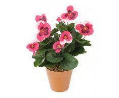 Closer To Nature HBC006PIE - Planta de pensamiento artificial, 30 cm, color rosado