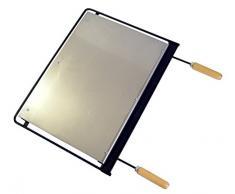 Imex El Zorro 71611 - Plancha para barbacoa, inox, 56 x 41 cm