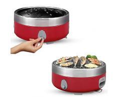 Freshore JA-BG01 - Barbacoa portátil de carbón vegetal para exteriores (rojo pasión)