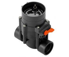 Gardena 1251-20 - Válvula de riego 9 V Control automático del riego, inalámbrico, caudal optimizado, Apertura y Cierre Manual de la válvula