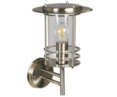 Luxform Phoenix - Lámpara de Pared (230 V, Acero Inoxidable), Color Plateado