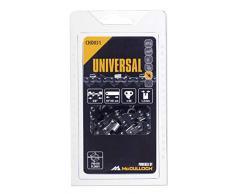 Universal GM577615131 Cadena de sierra para motosierra, 18/45cm 3/8 60p, optimo afilado, mantenimiento sencillo, accesorios McCulloch, Standard, 3/8x0.05pulgadas