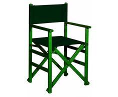 Aranaz 1656 Sillón Recto Plegable, Verde