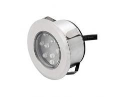 Konstsmide Gnosjö Exterior Lámpara, focos de Suelo (Acero Inoxidable, 3 Unidades, 7 x 7 x 4 cm, 3 ml, 7677 - 000