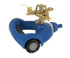 Tatay 0022601 Top Line - Aspersor por impulso con ruedas para riego de jardín, ABS azul, 20 x 21 x 14,2