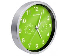 Bresser MyTime - Reloj de Pared Termo-/ Higro- 25cm, Color Verde