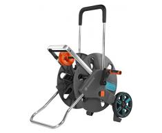 AquaRoll L Easy de GARDENA: carro portamanguera con capacidad de hasta 100 m, muy estable, con cómoda guía para manguera con bastidor metálico, sistema antigoteo, montaje sin herramientas (18520-20)
