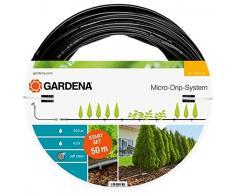 Gardena 13013-20 Set de Inicio para hileras L: Sistema jardín Micro-Drip para un riego Que Ahorra Agua y Protege Las plantaciones en Fila, Negro