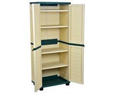 Catral 63010003 - Armario 4 estantes, 75 x 52.5 x 187 cm, color verde y beige