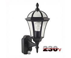 Luxform Lighting Victoria - Lámpara de Pared (230 V, Sensor PIR), Color Negro