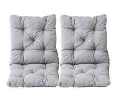 Java Exclusiv Ambientehome Hanko - Juego de 2 cojines con respaldo para silla, 50 x 98 x 8 cm, color gris