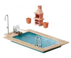 FALLER 180542 - Maqueta de jardín con piscina [Importado de Alemania]