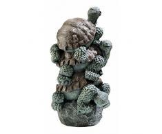 Design Toscano by Blagdon EU5727 - Figura Decorativa (Resina), diseño de Tortugas apiladas