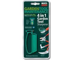 Multi-Sharp 1501 Afilador de Cuchillas Multiusos 4 en 1 para Herramientas de Jardinería, Podadoras de Borde Recto, Tijeras de Podar, Podadoras, Ganchos para Hierba y Cuchillos para Malezas