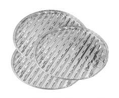 Fackelmann Parrilla cuencos 33 x 1,5 cm, 3 unidades de aluminio, plata, 33 x 15 x 2.5 cm, 42444