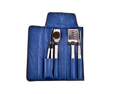 Zanvic RC-87310 Barbacoa Set con 4 Utensilios, Azul, 46 x 9 x 6 cm