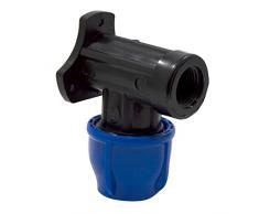 S&M Racor - Codo grifo, 20 mm x 1/2, color negro y azul