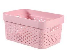 Curver - Caja Organizadora Infinity Dots 4,5L. con Asas - Color Rosa