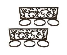 Marvells afh6772 Triple plegable de la maceta Soporte para pared), color marrón (2 unidades)