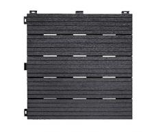 Ribiland PRGOMDJ101 - Baldosa para terraza (45 x 45 x 2 cm), color gris antracita