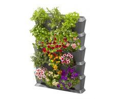 GARDENA NatureUp! Bases Conjunto verticalmente con riego: pared de la planta para enverdecer balcón / terrazas / patios, fijado para 15 plantas, suministro de agua invisible, simple sistema