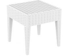 Resol Ipanema - Mesa auxiliar, plástico, Blanco, 45 x 45 x 45 cm