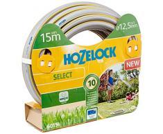 Hozelock 6015P0000 15m PVC Gris, Amarillo - Manguera de jardín (15 m, Gris, Amarillo, Sólo mangueras, PVC, 1,25 cm, Francia)