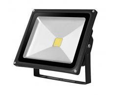 Kingavon BB-HL170 - Lámpara de Techo de Cristal (IP65, 115 x 35 x 106 mm), Color Negro