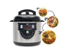 Olla Programable Gm Modelo F. Robot De Cocina Programable Multifunción Que Cocina Por Ti. Capacidad De Hasta 6 Litros.