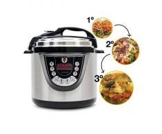 Olla Programable Gm Modelo D. Robot De Cocina Programable Multifunción Que Cocina Por Ti. Guiado Por Voz Y Con Función Freír.