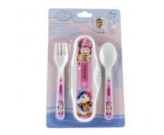 Disney Set Cubiertos Minnie Estuche Microondas