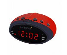 Reloj despertador Sunstech FRD16 Rojo