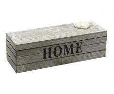 """Caja en color madera """"Home"""" 23x8x7cm"""