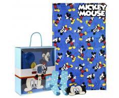 Manta, Calcetines y Antifaz Mickey Mouse 73376 (3 Pcs) Azul