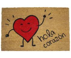 Koko Doormats Felpudo Hola Corazon
