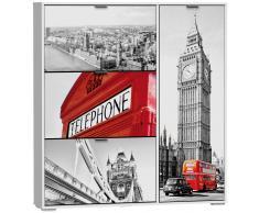 SZ Suárez Zapatero de 3 Trampones con Compartimento Para Botas Neljia Londres