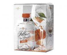 Pack Gin Filliers Tangerine (Mandarina) 43.7º 0.5 L + Copa