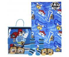 Manta, Calcetines y Antifaz The Paw Patrol 73375 (3 Pcs) Azul